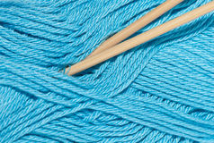 Yarn and knitting needles Royalty Free Stock Photo