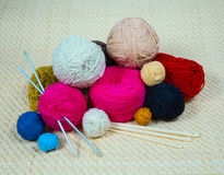 Yarn for knitting needles Royalty Free Stock Image