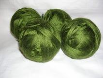 Yarn for knitting in tangles. Acrylic yarn, with silk tint Royalty Free Stock Photos
