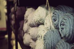 Yarn. Lots of yarn at an antique shop Stock Photos