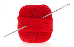 Yarn with needle Royalty Free Stock Photography