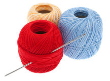 Yarn with needle Stock Images