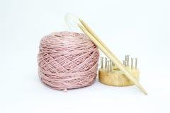 Yarn and needles Stock Image