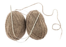 Yarn and needles Stock Image