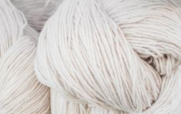 Yarn, raw materials for cotton stock photography
