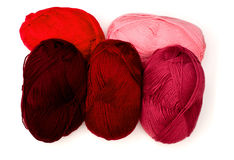 Yarn in red tones Stock Photos