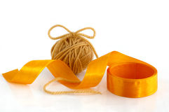 Yarn and ribbon Royalty Free Stock Images