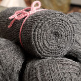 Yarn scarf, accessory, wintertime, handmade gift Stock Images