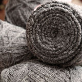 Yarn scarf, accessory, wintertime, handmade gift Royalty Free Stock Images