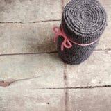 Yarn scarf, accessory, wintertime, handmade gift Royalty Free Stock Image