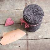 Yarn scarf, accessory, wintertime, handmade gift Stock Photo