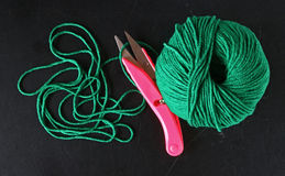 Yarn scissor Stock Photography