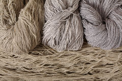 Yarn from sheep`s wool Royalty Free Stock Photo