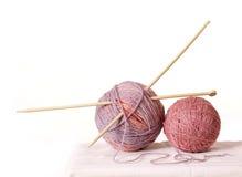 Yarn of sheep`s wool Stock Image