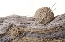 Yarn of sheep`s wool Stock Photo