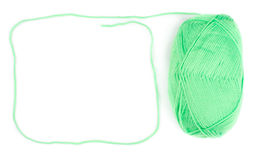 Yarn skein of green color Royalty Free Stock Photo