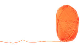 Yarn skein of orange color Stock Images