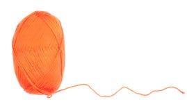 Yarn skein of orange color Stock Image