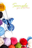 Yarn skeins Stock Photography