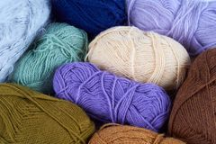 Yarn skeins Royalty Free Stock Photos