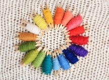 Yarn Spectrum Royalty Free Stock Photo