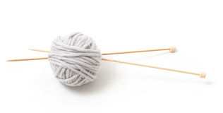 Yarn and sticks Stock Images