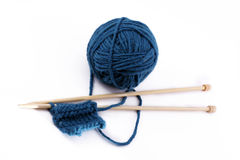 Yarn with stitch Stock Photography