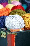Yarn in Suitcase Royalty Free Stock Images