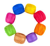 Yarn, thread balls isolated Royalty Free Stock Images