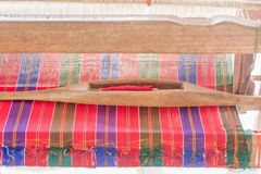 Yarn and weaving, hand-woven, crafts royalty free stock photography