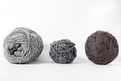 Yarn of wool isolated on white background Royalty Free Stock Photos