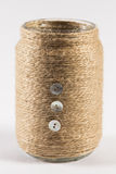 Yarn wrapped jar Royalty Free Stock Photography
