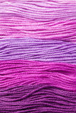 Yarns. Colorful pink yarns for embroidering Stock Photos
