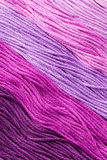 Yarns. Colorful pink yarns for embroidering Royalty Free Stock Images