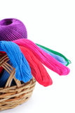 Yarns of different colors Royalty Free Stock Photo