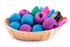 Yarns of different colors Royalty Free Stock Photos