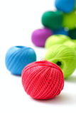 Yarns for knitting on a white background Stock Photo
