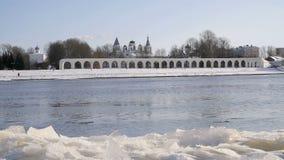 Yaroslav庭院在Veliky诺夫哥罗德,俄罗斯 影视素材