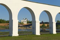 Yaroslav court in Novgorod Royalty Free Stock Image