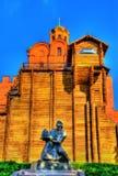 Yaroslav das kluge Monument und die Golden Gate von Kiew - Ukrain Lizenzfreie Stockfotos