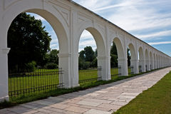 Yaroslav's Court. Is a princely compound in the city of Novgorod the Great Stock Images