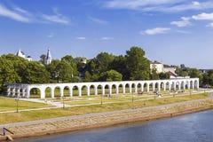 Yaroslav's Court in Veliky Novgorod Stock Photography