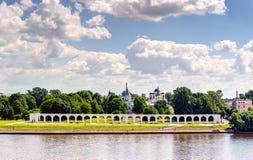 Yaroslav's Court in Veliky Novgorod Royalty Free Stock Images