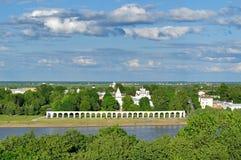 Yaroslav's Courtyard from bird's eye view, Veliky Novgorod Stock Photography