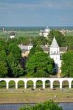 Yaroslav's Courtyard from bird's eye view, Veliky Novgorod Royalty Free Stock Photography