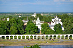 Yaroslav's Courtyard from bird's eye view, Veliky Novgorod Royalty Free Stock Images