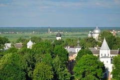 Yaroslav's Courtyard from bird's eye view, Veliky Novgorod Royalty Free Stock Photos