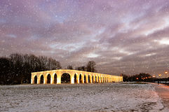 Yaroslav's Courtyard in Veliky Novgorod, Russia - night view Royalty Free Stock Photography