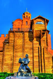 Yaroslav the Wise Monument and the Golden Gates of Kiev - Ukrain Royalty Free Stock Photos