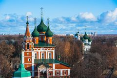 yaroslavl Εικόνα της αρχαίας ρωσικής πόλης, άποψη Στοκ εικόνες με δικαίωμα ελεύθερης χρήσης